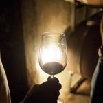Wine tasting in cave