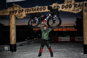 Jay Petervary at the End of the Iditarod